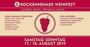 Plakat Bockenheimer Weinfest